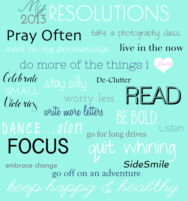 New Years Resolutions Inspiration